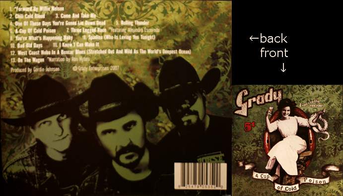 Photo of Band portrait of Grady, Austin Texas, for album backside, A Cup Of Poison, released 2007.
