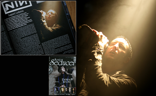 Photo of Photo of NIN used by Rock Hard magazine, Germany, for live review.