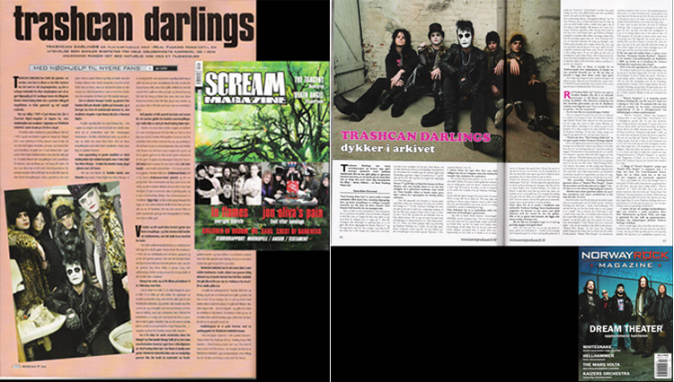 Photo of Trashcan Darlings photo in Scream Magazine and Norway Rock Magazine