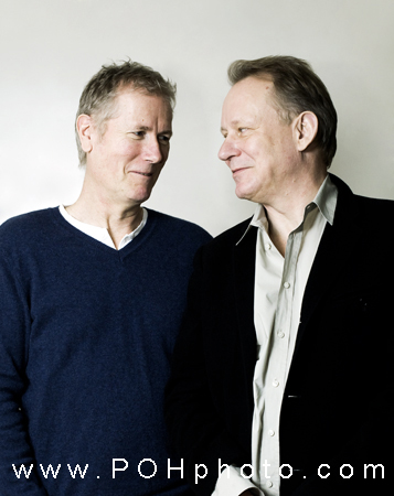 Photo of Hans Petter Moland, Norwegian film director + Stellan Skarsgård
