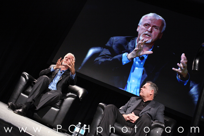 Photo of James Cameron (Titanic, Avatar) and Vince Pace og CPG