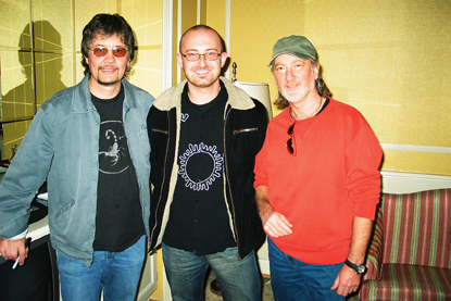 Photo of Don Airey (l), me & Roger Glover (r)