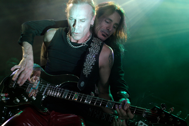 Photo of Billy Sheehan and Steve Vai