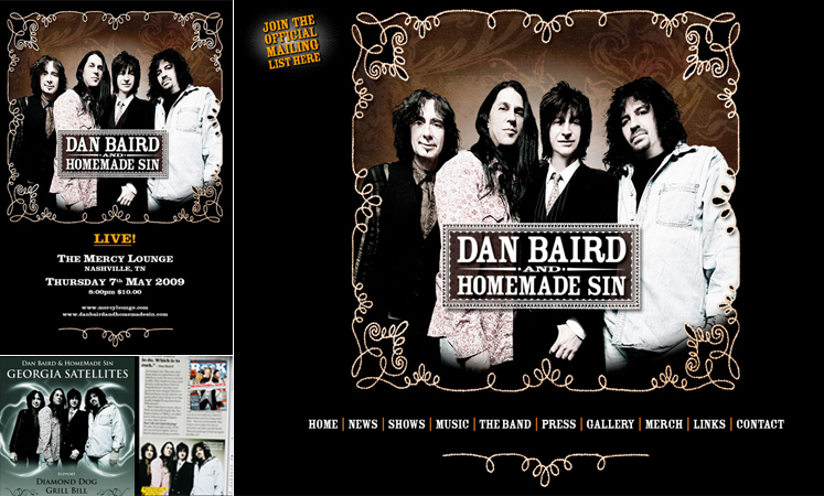 Photo of Official promo shot for Dan Baird and Homemade Sin (aka Dan Baird's Georgia Satellites).