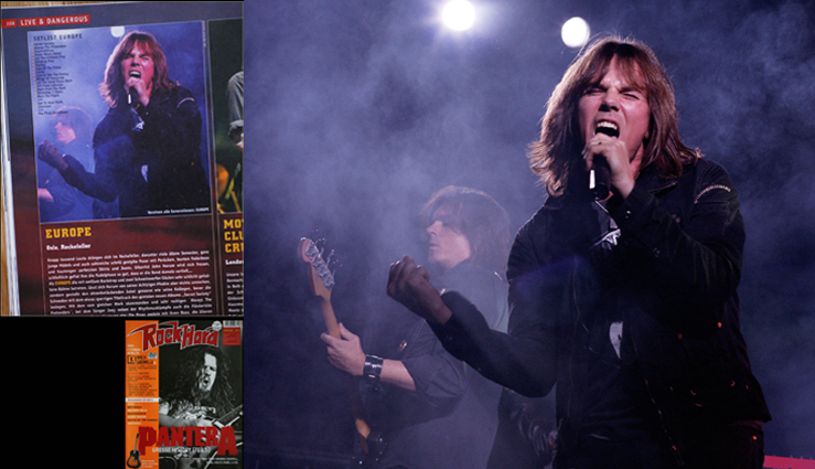 Photo of Photo of Europe used by Rock Hard magazine, Germany, for live review.