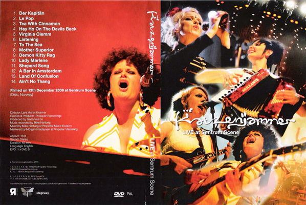 Photo of Various live shots for Katzenjammer concert DVD release (2010)