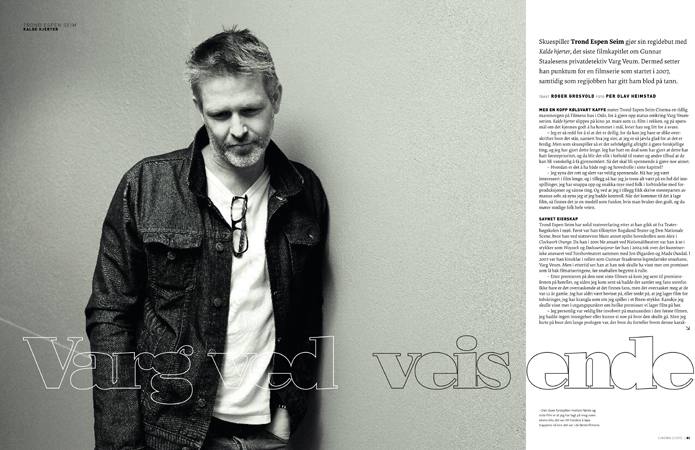 Photo of Photo of Trond Espen Seim for CINEMA interview