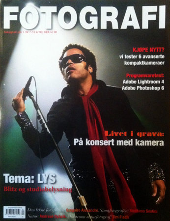 Photo of Norwegian photo mag Fotografi (7/11-12), coverstory